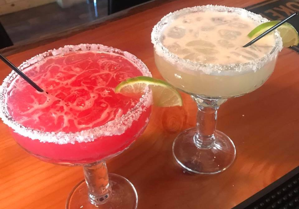 Some of the tasty margaritas served at Ocho Cinco Cantina in Warrensburg, NY.