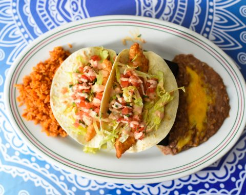 Fish Tacos at Ocho Cinco Cantina in Warrensburg NY