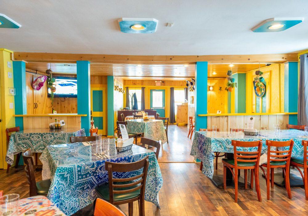 The newly renovated interior at Ocho Cinco Cantina in Warrensburg, NY.