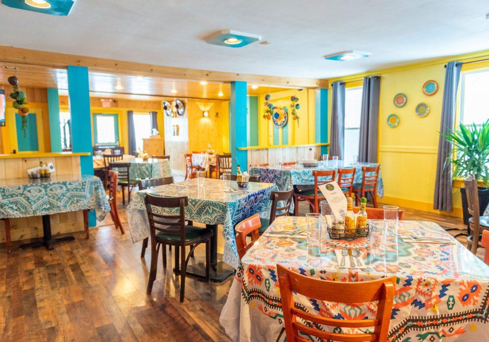 The beautiful new interior at Ocho Cinco Cantina in Warrensburg, NY.