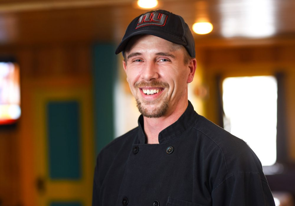 Patrick Morehouse, Kitchen Manager at Ocho Cinco Cantina in Warrensburg, NY.
