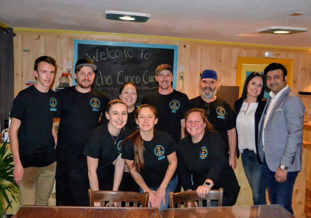 The team at Ocho Cinco Cantina in Warrensburg NY