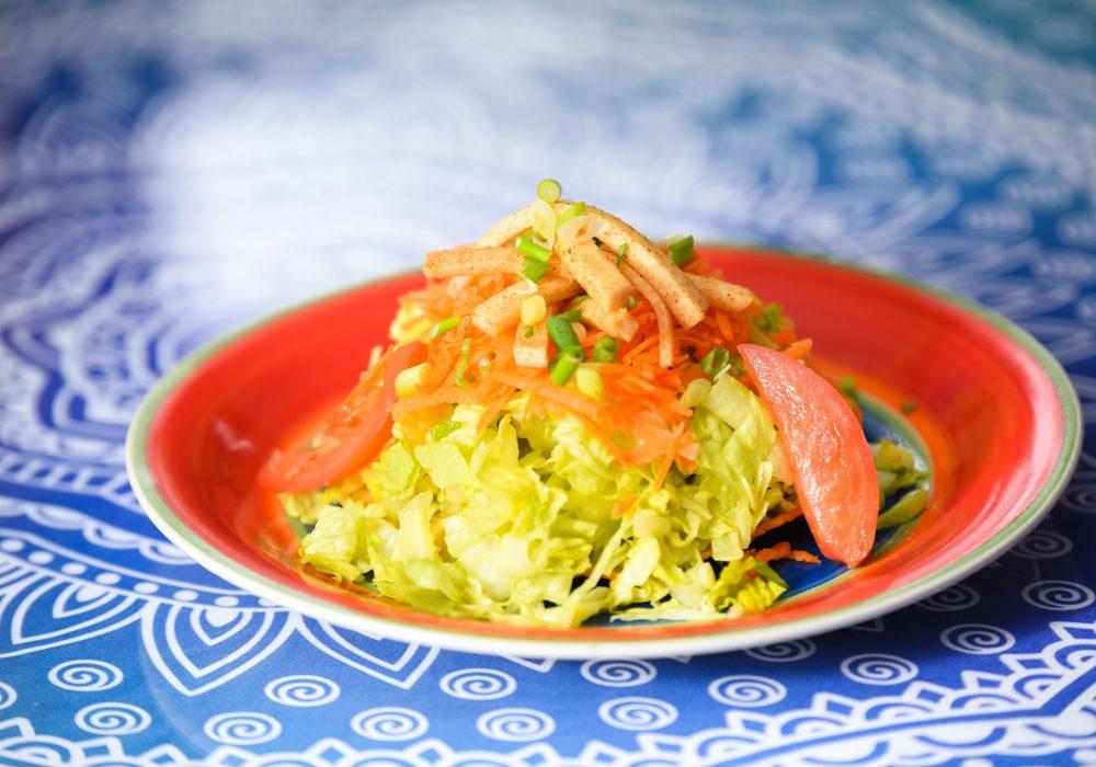 The Tostada Salad at Ocho Cinco Cantina in Warrensburg NY